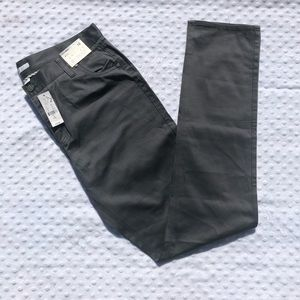 NY&Co Satin Finish Gray Tall Skinny Pants